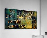 Football Scoreboard Art  Acrylic Print