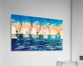 sail boats art  Acrylic Print