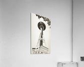 black white seattle space needle art  Acrylic Print