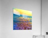Yellow Sky at Manhattan Beach  Acrylic Print