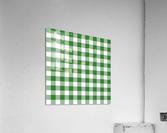 Green Plaid Pattern  Acrylic Print