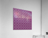 Light Purple Squares And Diamonds Pattern  Acrylic Print