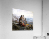Indian women watching a battle  Acrylic Print