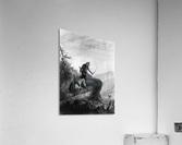 Snake Indians Shooting Elk  Acrylic Print