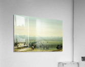 Breaking up camp at sunrise  Acrylic Print