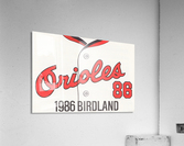 1986 Baltimore Orioles Metal Sign  Impression acrylique