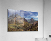 Landscape with giant skull  Acrylic Print