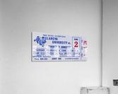1986 Villanova vs. Connecticut Basketball Ticket Canvas  Acrylic Print