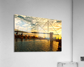Amazing Sunset over river  Acrylic Print