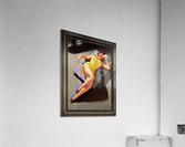 Permite Mechanic Pin-up Girl by Bill Medcalf Vintage Art  Acrylic Print