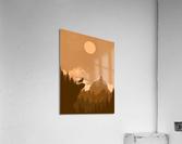 Mountain Wolf Day  Acrylic Print