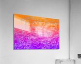 geometric fractal line abstract background in purple orange  Acrylic Print