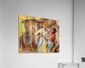 Two women washing horses by Degas  Acrylic Print