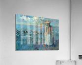 Woman on a Twilight Beach  Acrylic Print