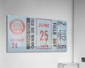 1974 Detroit Tigers Field Box Ticket  Acrylic Print