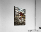 Travel to the Red Barn  Acrylic Print