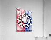 1947 Chicago All-Star Game Program Art  Acrylic Print
