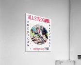 1961 Boston All-Star Game Baseball Program Art  Acrylic Print