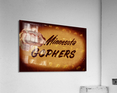 1950 Vintage Minnesota Golden Gopher Art  Acrylic Print