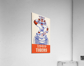 1969 Detroit Tigers Retro Baseball Art  Acrylic Print
