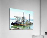 Lake Dredger at Passignano Sul Lago  Acrylic Print