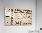 1975 Indiana vs. Iowa Basketball Ticket Metal Sign  Acrylic Print