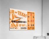 1939 Texas Longhorns vs. Oklahoma Sooners  Acrylic Print