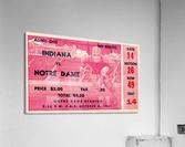 1941 Indiana vs. Notre Dame Football Ticket Canvas  Acrylic Print