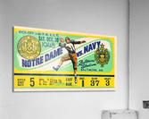 1948 Navy vs. Notre Dame Football Ticket Art  Acrylic Print