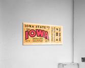 1933 Iowa State vs. Iowa Football Ticket Art  Acrylic Print