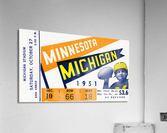 1951 Michigan vs. Minnesota Football Ticket Art  Acrylic Print