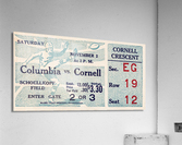 1935 Columbia vs. Cornell Football Ticket Art  Acrylic Print