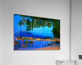 City Lights over Lake Lucerne Switzerland  Acrylic Print