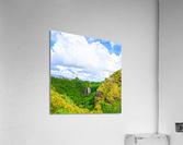 The Falls at the Mountain Overlook on Kauai Square  Acrylic Print