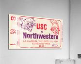 1969 USC Trojans vs. Northwestern Wildcats  Acrylic Print
