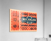 1935 Michigan Wolverines vs. Ohio State Buckeyes Ticket Art  Acrylic Print