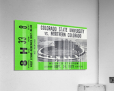 1977 Colorado State Rams vs. Northern Colorado  Acrylic Print