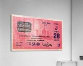 1938 Stanford Indians vs. Cal Bears Big Game Ticket Stub Art  Acrylic Print