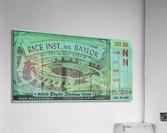 1952 Rice Owls vs. Baylor Bears  Acrylic Print