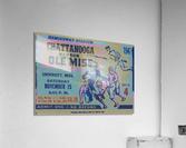 1947 Ole Miss Rebels vs. Chattanooga  Acrylic Print