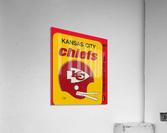 1980 Kansas City Chiefs Fleer Decal Art  Acrylic Print