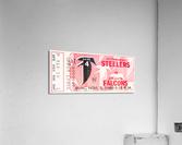 1968 Atlanta Falcons vs. Pittsburgh Steelers Ticket Art  Acrylic Print