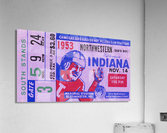1953 Indiana Hoosiers vs. Northwestern Wildcats  Acrylic Print