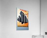 To New York Hamburg American Line travel poster  Acrylic Print
