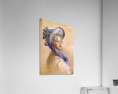 Youbg lady with purple hat  Acrylic Print