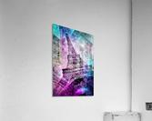 Pop Art Eiffel Tower  Acrylic Print