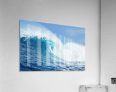A large ocean wave breaks at the big wave spot know as Jaws or Peahi; Maui, Hawaii, United States of America  Acrylic Print
