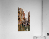 Gondola On a Venetian Canal  Acrylic Print