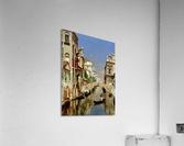 A Venetian Canal with the Scuola Grande di San Marco and Campo San Giovanni e Paolo  Impression acrylique