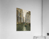 A family outing on a Venetian canal  Acrylic Print